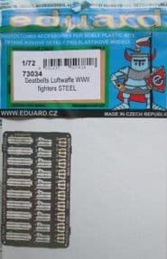 ED73034  1/72 Seatbelts Luftwaffe WWII fighters STEEL