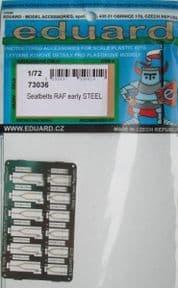 ED73036 1/72 Seatbelts RAF Early (Steel)
