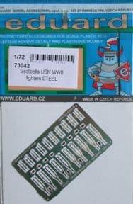 ED73042 1/72 Seatbelts USN WWII Fighters Steel