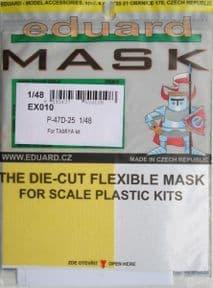 EDEX010 1/48 Republic P-47D-25 Thunderbolt (Bubbletop) mask (Tamiya)
