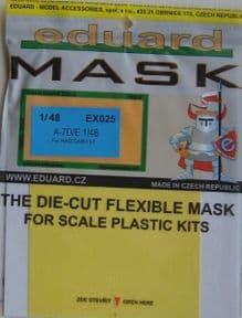 EDEX025 1/48 Vought A-7D/E Corsair mask (Hasegawa)