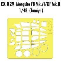 EDEX029 1/48 de Havilland Mosquito Mk.VI/NF.II mask (Tamiya)
