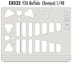 EDEX032 1/48 Brewster F2A Buffalo Mask (Tamiya)