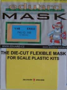 EDEX033 1/48 Vought F4U-1D Corsair mask mask (Tamiya)