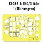 EDEX089 1/48 Junkers Ju87D/G Stuka Mask (Hasegawa)