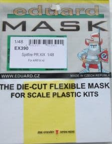 EDEX390 1/48 Supermarine Spitfire PR19 mask (Airfix)