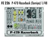 EDFE226 1/48 Republic P-47D Thunderbolt Razorback zoom etch (Hasegawa)
