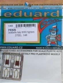 EDFE826 1/48 Seatbelts Italy WWII fighters STEEL