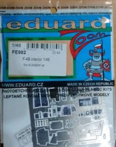 EDFE982 1/48 McDonnell F-4B Phantom II zoom etch (Academy)