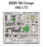 EDSS252 1/72 Grumman TBM-3 Avenger zoom etch (Hasegawa)