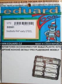 EDSS581 1/72 Seatbelts RAF Early Steel