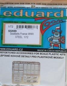 EDSS599 1/72 Seatbelts France WWII Steel