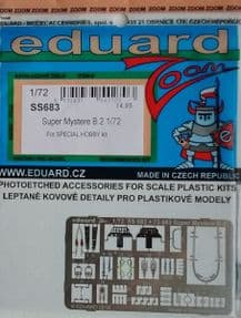 EDSS683 1/72 Super Mystere B.2 zoom etch (Special Hobby)