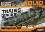 LC-LP05 LifeColor Liquid Pigment Washes Trains and Tracks set  (22ml x 6)