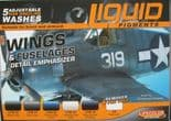 LC-LP06 LifeColor Liquid Pigment Detail Emphasizer Wings and Fuselages set  (22ml x 6)