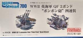 ND-WA36 1/700 WWII Royal Navy QF 2-Pounder Naval Pom-Pom Gun Quadruple-Mount