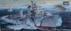 TRU05788 1/700 German Destroyer Zerstorer Z30 1942