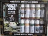 VAL70179 Model Color Set - Panzer Aces Camouflage Colours (x16)