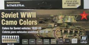 VAL71188 Soviet AFV WWII Camo colours (x8)