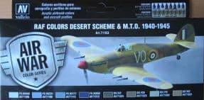 VAL71163 Model Air Set - WWII RAF Desert Scheme & M.T.O. 1940-1945 (x8)