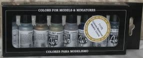 VAL71176 Model Air Set - Metallic Colours (x8)