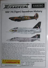 X48080 1/48 RAF 74 (Tiger) Sqn 1918 to 1992 decals (10)