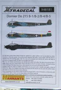 X48181  1/48 Dornier Do-215B-1/-2/-4/-5 decals (6)