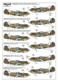 X72139 1/72 Curtiss P-40B Tomahawk (13) decals