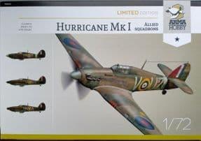 AH70024 1/72 Hawker Hurricane Mk.I Allied Squadrons