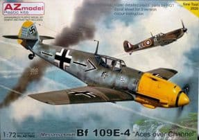AZM7682 1/72 Messerschmitt Bf-109E-4 Aces over the Channel