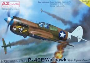 AZM7695 1/72 Curtiss P-40E Warhawk '49th FG'