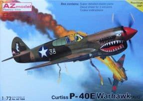 AZM7696 1/72 Curtiss P-40E Warhawk  AVG 'Flying Tigers'
