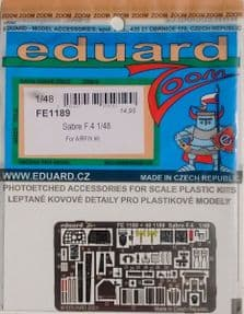 EDFE1189 1/48 Canadair Sabre F.4  zoom etch ( Airfix)