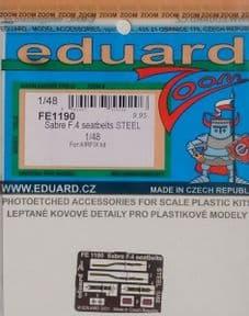 EDFE1190 1/48 Canadair Sabre F.4 seatbelts STEEL ( Airfix)