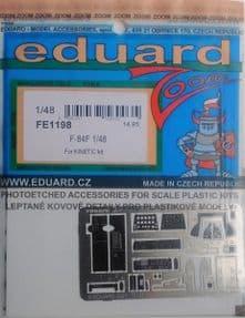 EDFE1198 1/48 Republic F-84F Thunderstreak zoom etch (Kinetic)