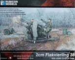 RB280073 1/56 2cm Flakvierling 38 with SdAh 51/52 Trailer and Crew