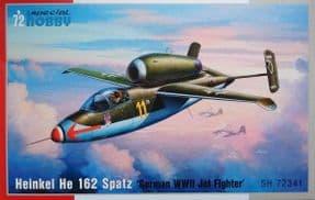 SH72341 1/72 Heinkel He-162A Spatz 'German WWII Jet Fighter'