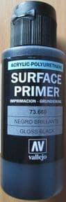 VAL73660 Acrylic Polyurethane Gloss Black Primer 60ml