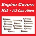 A2 Cap Allen Engine Covers Kit - Kawasaki GPz600R