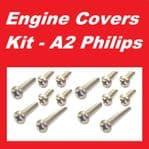 A2 Philips Engine Covers Kit - Kawasaki GTR1000