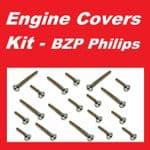 BZP Philips Engine Covers Kit - Honda CB250N
