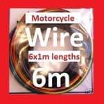 Motorcycle Wire Kit (6 colours x 1m) - Suzuki TS400