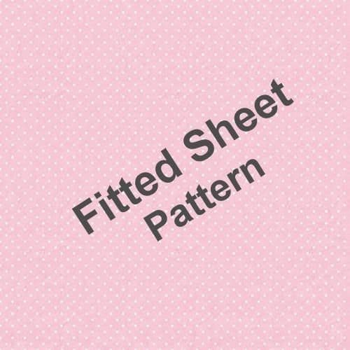 """""""Float Away"""",Toddler fitted sheet, Pink, easy-care """"Belle Amie"""" by Rapport"""