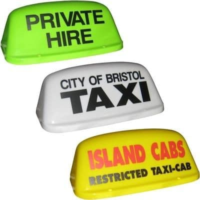 """16"""" Round Aero Taxi Roof Sign"""