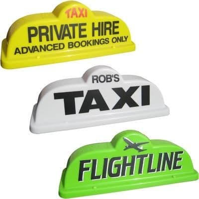 """18"""" Bubble Taxi Roof Sign"""