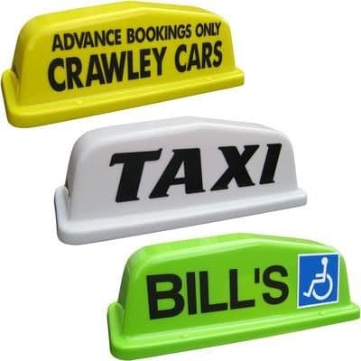 """18"""" Point Taxi Roof Sign"""
