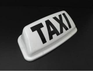 """19"""" Budget Taxi Roof sign"""