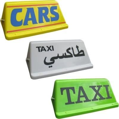 """24"""" Local Taxi Roof Sign"""