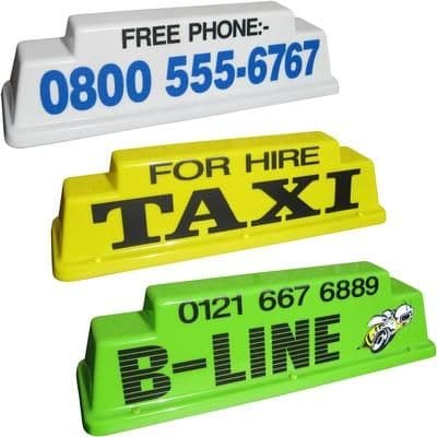 """24"""" Raised Taxi Roof Sign"""