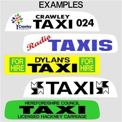 """30"""" Taxi Sign Lettering (1)"""